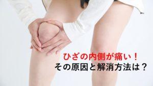 膝の内側に痛みがある…|原因と3つの解消エクササイズの紹介
