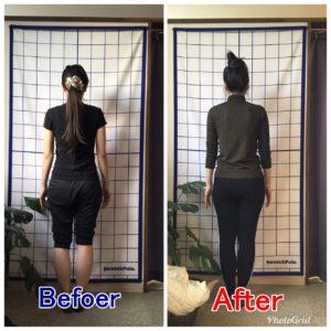 【お客様の声】8回のピラティスでひざの痛みと腰痛が改善して、美脚になれた!